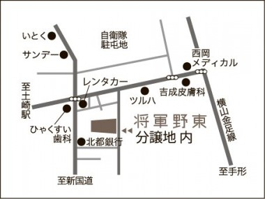 将軍野地図イラスト