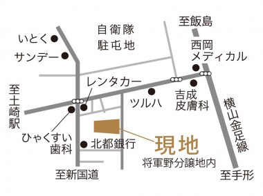 将軍野地図